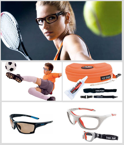 Images of different styles of protective ver sports spectacles